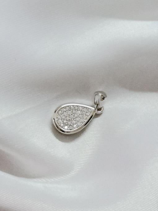 YUEFAN Water Drop 925 Sterling Silver Cubic Zirconia White Dainty Pendant 3