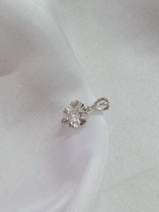 YUEFAN Heart 925 Sterling Silver Cubic Zirconia White Minimalist Pendant