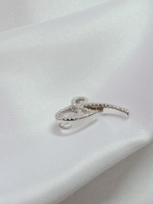 YUEFAN Bowknot 925 Sterling Silver Cubic Zirconia White Minimalist Pendant 1